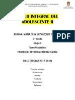 Salud Integral Del Adolescente II Luuuxaa