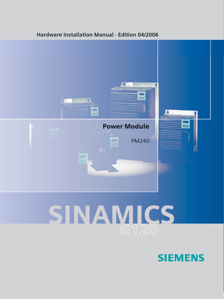 siemns G120_PM240   Power Inverter   Electric Power System