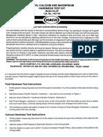 Hardness (Total & Calcium) Test Manual, HA-4P, Drop Count Titration Kit 1457-00