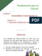 03.1 Funciones. Definición y Dominio