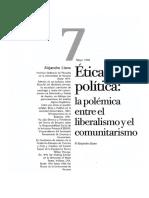 Ética y Política Polémica Entre Liberalismo y Comunitarismo