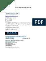 Lista de Empresas Para Contactar
