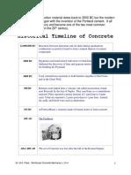 L0-Historical Timeline of Concrete