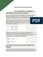 Modelamientos Matematicos Para Lineas de Transmision
