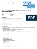 Sap Sourcing and Sap Contract Lifecycle Management 9 0