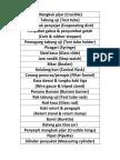 Label Peralatan Makmal Sains