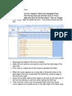 Create a Data Entry Form -Activity 4