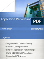 DB2 Application Performance Presentation WS