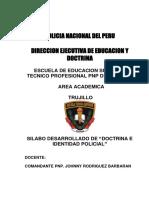 Silabo de Doctrina e Identidad Policial 2018