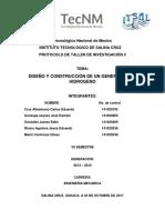 Tecnológico Nacional de Mexico GENERADOR DE HIDROGENO
