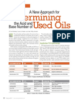 The Acid Number and Base Number of in-service Oils