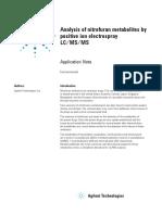 Nitrofuran Metabolit by Lcmsms (Just MSMS Method)