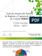 Guía Rápida SIREC 2016 -2017