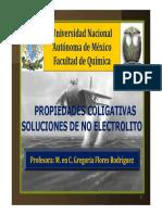 Propiedades Coligativas de No Electrolitos