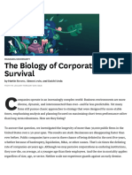 The Biology of Corporate Survival
