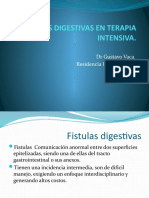 Fistulas Digestivas en Terapia Intensiva