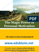 The Power of Personal Motivation - Materi Utama