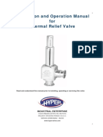 Thermal Relief Valve Instructions & Operations Manual
