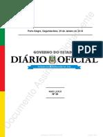 Diário oficial do estado do RGS