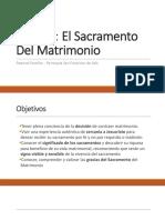 Charlas Prematrimoniales Tema 2 - El Sacramento Del Matrimonio