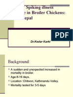 Review of Spiking Illness Syndrome of Broiler Chickens in Nepal ;2008