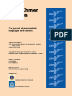 The journal of Austroasiatic languages and cultures