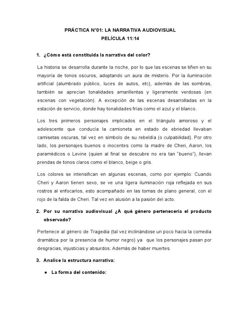 Práctica La Narrativa Audiovisual