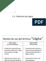 Definición de Lógica