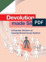 Devolution Made Simple