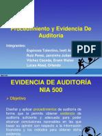 Procedimiento y Evidencia de Auditoria