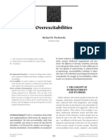 Overexcitabilities by Piechowski 1999