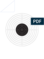 A4 10m Air Pistol Target Single2
