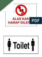 Alas Kaki Dan Toilet