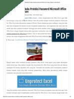Cara Mudah Membuka Proteksi Password Microsoft Office Excel Tanpa Software _ Info Menarik