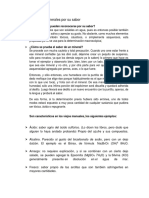Clasificación de Minerales Por Su Sabor y Radiactividd