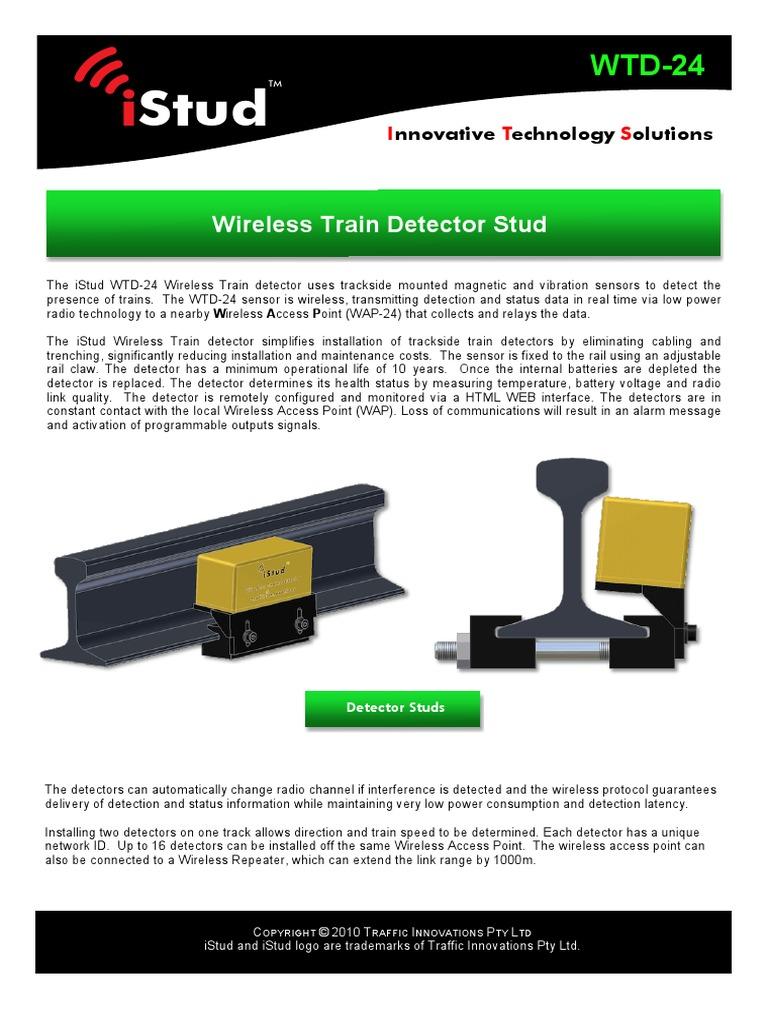 Wireless Train Detector 24HIRES