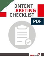 SiegeMedia Content Marketing Checklist