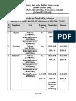 Schedule Faculty Recruitment