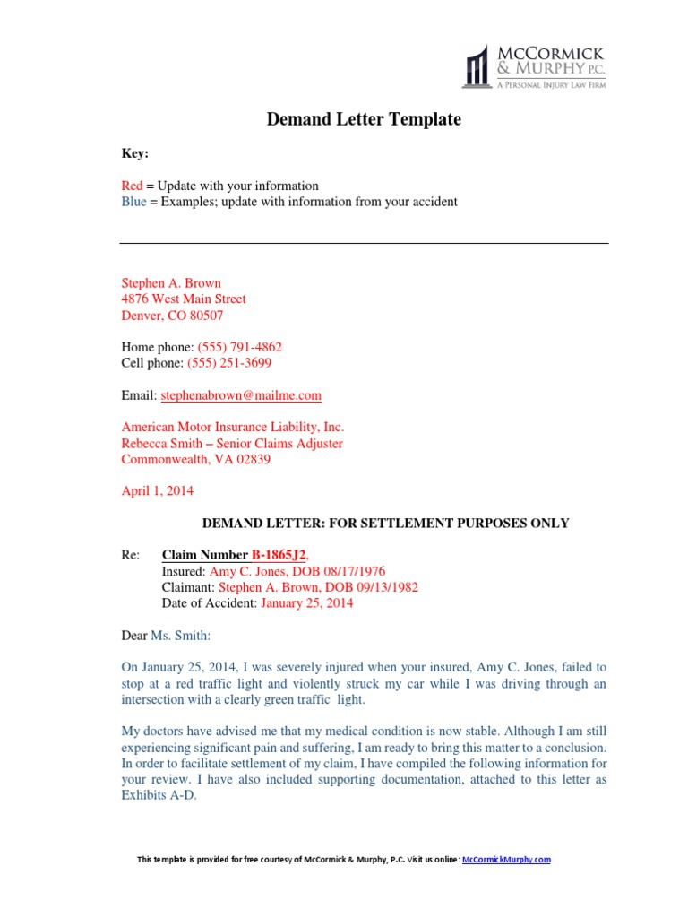 Insurance Demand Letter Template from imgv2-2-f.scribdassets.com