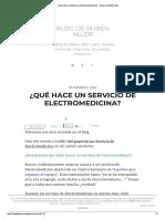 ¿Qué Hace Un Servicio de Electromedicina_ - Blog de Rubén Aller