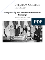 Treaty Making and International Relations