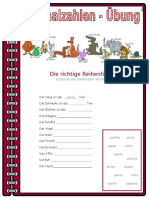 Zahlen Ordinalzahlen Ubung Arbeitsblatter Bildbeschreibungen Leseverstandnis 24596