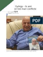 Nógrádi György – În Anii Următori Trei Mari Conflicte În Europa