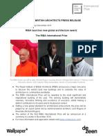 RIBA International Prize Press Release 7
