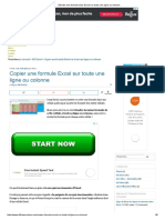 Etendre Une Formule Dans Excel Sur Toute Une Ligne Ou Colonne