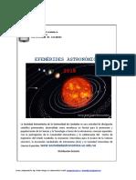 EFEMÉRIDES ASTRONÓMICAS 2018