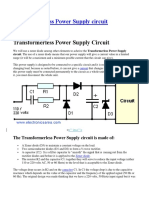Transformerless Power Supply Circuit
