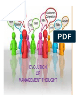 Evolution of Mgt Thought [Compatibility Mode]