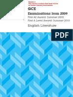 GCE English Literature Spec 2009 Onwards (31!03!14)