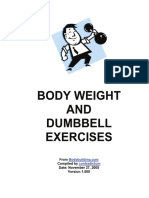 Body Weight and Dumbbell Exercises
